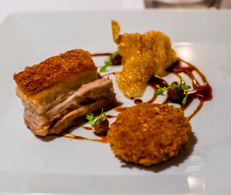 Aria kurobuta pork belly